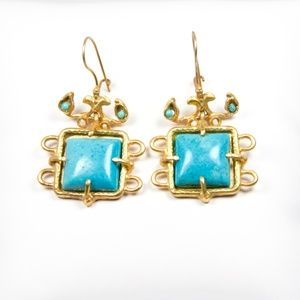 Atlantis Earrings // Turquoise // Handmade